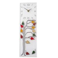 Tree of Life Leaded Rectangular Kitchen Wall Clock