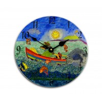 Wee Mcash and Friends Childrens Story Clock by Amanda Sunderland Round Medium Wall Clock 25cm dia
