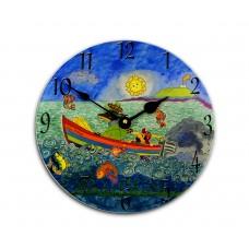 Wee Mcash and Friends Childrens Story Clock by Amanda Sunderland Round Medium Wall Clock 25cm dia